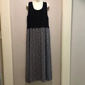 Calvin Klein Black maxi dress size 1X NWT
